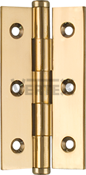 Narrow Range Cabinet Hinges - Button tips, Polished brass (lacquered)